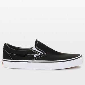 Vans Classic Slip On Black & White Shoes Men's